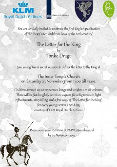 Feestje voor The Letter for the King